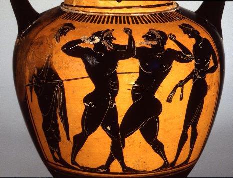 Less strength more skill homeric boxing sententiae for Vasi antica grecia