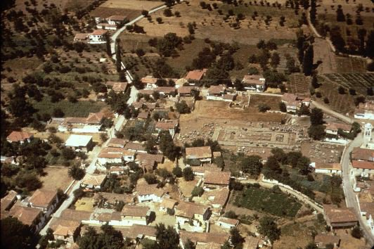 Aerial View of the Temple of Athena Alea