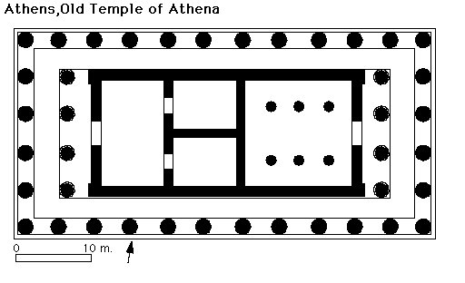 Plan of the archaic temple of Athena
